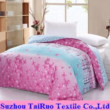 Hoja de cama con pigmento 100% microfibra de poliéster (TR-TEX-B4)