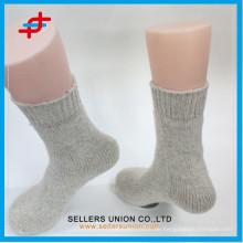 Erwachsene Wolle dicke Sport grau weiße Socken