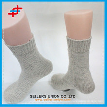 Adult wool thick sport grey white socks