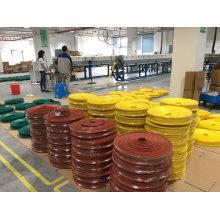 High Temperature Resistant Yellow Silicone Rubber Wire Insulation Cover 220kv