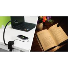 Flexible LED Reading Light with USB Charging Function