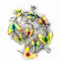 Absorvente em Pastel Garden Metal Wall Art Artesanato de borboletas
