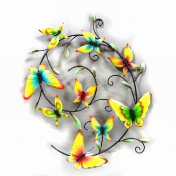 Unique Metal 9 Schmetterlinge Handwerk Dekoration für Wand