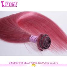 Factory price top grade 7a european hair straight pink human hair weave