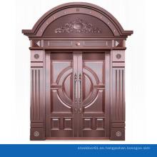 Diseño de marco de puerta de cobre principal en forma de arco moderno
