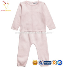 Kaschmir-Baby-lange Hülsen-Spielanzug-einteiliger Anzug-Kleidungs-Satz
