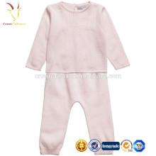 Cachemire bébé manches longues barboteuse une pièce ensemble de vêtements de costume