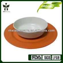 bamboo fiber dinnerware set