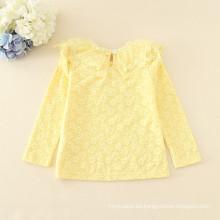 camisetas de lana niños otoño ropa niñas de encaje de alta calidad invierno lonh manga camiseta caliente niños suaves tee