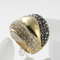 New Coming Hot Selling Vintage Gold Color full rhinestone Rings Jewelry for Women