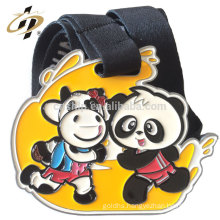 2018 custom enamel cartoon marathon running medals for children