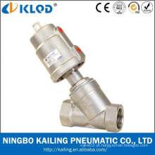 """Aço inoxidável ângulo tipo válvula de agulha, SS304 atuador e corpo, KLJZF-1/2 """"SS, conexão de rosca"""