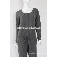 Vente d'usine de la Chine tricoté combinaison de cachemire de sexe