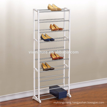 10 tier plastic shoe rack