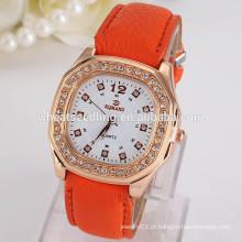 2015 relógio de pulso quente Vogue relógio de couro barato da forma do relógio