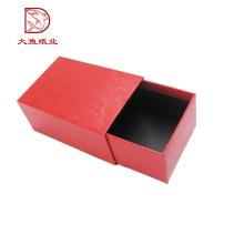 Caja cuadrada superior del cartón del cajón de la exhibición del nuevo diseño rojo de la calidad