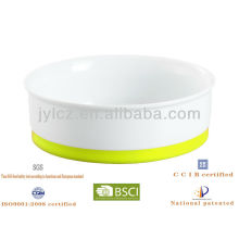 19cm pet bowl with silicone base
