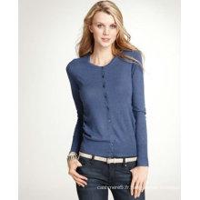conceptions de chandail de cardigan tricoté de laine de cachemire de femme pour des dames