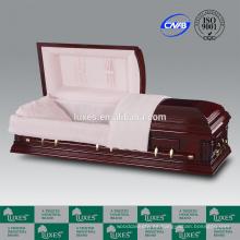 China ataúd fabricantes LUXES estilo americano fúnebre ataúd Norman
