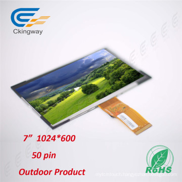 7 Inch 50 Pin Contrast Ratio 800: 1 TFT