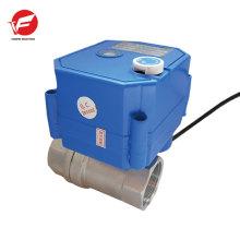 dn15 dn20 CWX-25S 12V 2 voies en acier inoxydable vanne d'eau électrique