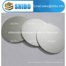 Disques en molybdène polis purs à 99,95%