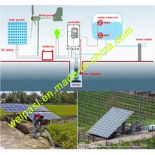 Irrigación solar, irrigación de la energía eólica, sistema de bombeo solar, iluminación de la noche, 1KW, 1.5KW, 2kw, 3kw, 5kw, 7.5kw