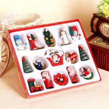 FQ marca 2017 família artificial presente ornamento mini decoração brinquedo da árvore de natal