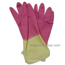 Bi-Color Latex Household Glove