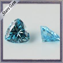 Forme du coeur de haute qualité Gemme synthétique en zirconium Pierre pour bijoux