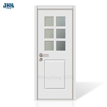 JHK  Interior Stained PVC Tempered Glass Door