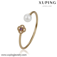 51758 xuping latest gold jewelry designs ,fashion elegant pearl bangle