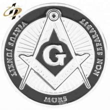 Personaliza tus propias monedas de plata de recuerdo masónicas de metal con logotipo de esmalte