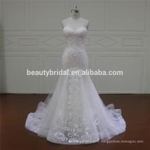XF16036 le plus récent design de sirène robes de mariée robe de mariée 2017