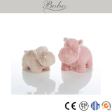 pink standing soft hippo