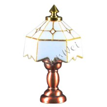 Customized for Dollhouse Table Lamp,Dollhouse Desk Table Lamp,Dollhouse Miniature Lamp Table Manufacturer in China Dollhouse white/peach table lamp battey power supply to Italy Factories