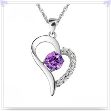 Crystal Pendant Necklace 925 Sterling Silver Jewelry (NC0012)