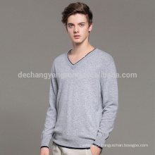 cheap price heavy warm v neck thin cashmere man sweater