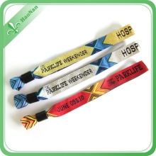 Factory Custom Printed Fabric Woven Wristbands for Events