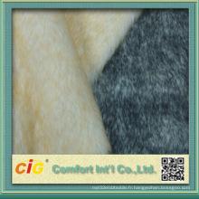 Tissu coloré de haute qualité en faux fourrure