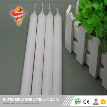 Church light white paraffin wax candle
