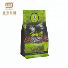 Guangzhou Fabrik Großhandel maßgeschneiderte Kunststoff-Kaffee-Taschen mit Reißverschluss / Ventil