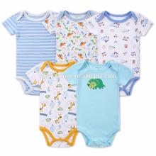 A roupa recém-nascida do bebê penteava o Romper orgânico do bebê do algodão para o verão