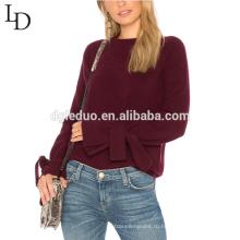 Мода рукав дизайн леди зима блуза пустой пуловер свитер для женщин
