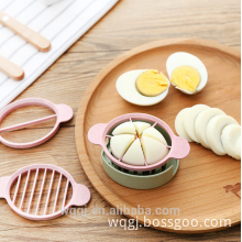 Promotional Gift Hard Boiled Eggs Equal Segment Cutter Non-toxic Material Egg Slicer