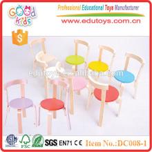 2015 sillas de madera ajustables de los niños del color rojo ajustable del diseño único. Preescolar para la venta