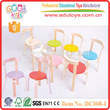 2015 unique design adjustable red color wooden children chairs. preschool furniture for sale