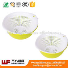 OEM Custom vegetable wash basket mould/Custom design plastic injection vegetable wash basket mold