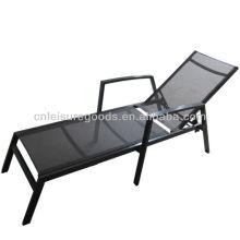2014 conception en aluminium tissu textoline chaise longue