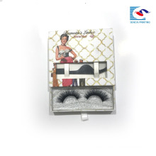 Luxury high qualiy paper box lashes cardboard box with window